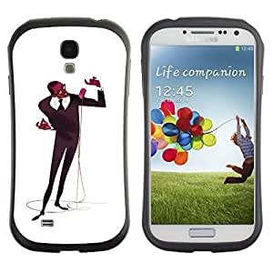 Be-Star Colorful Printed Design Anti-Shock Iface First Class Tpu Case Bumper Cover For SAMSUNG Galaxy S4 IV / i9500 / i9515 / i9505G / SGH-i337 ( microphone singer man black music art ) Kimberly Kurzendoerfer