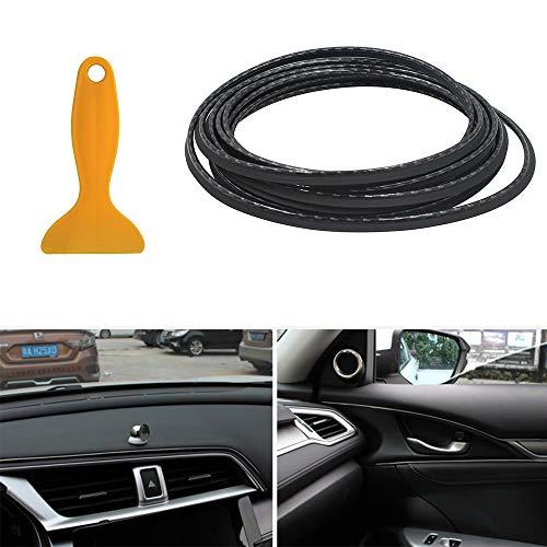 shunyang Car Interior Moulding Trim Strip Car Interior Exterior Decoration Moulding Trim Rubber Seal Protector 5M(Carbon Fiber)
