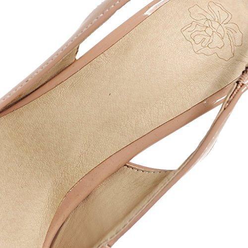 ENMAYER Frauen Suede Superabsatz Stiletto Peep Toe Dunk High Schuhe Orange