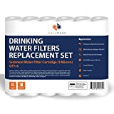 Aquaboon 6-PACK Of 5 Micron 10'' Sediment Water Filter For Any Standard RO Unit by