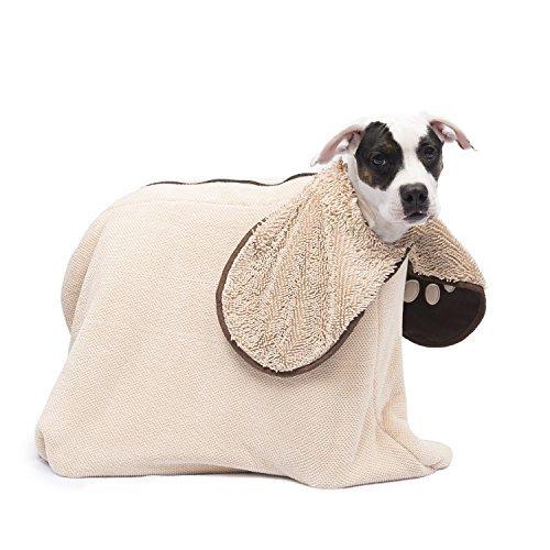 Dog Gone Smart Zip n' Dri, Medium, Khaki by Dog Gone Smart Bed