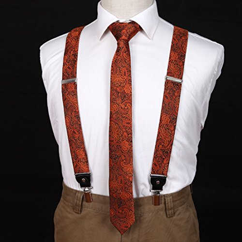 EFDB.02 Suppliers Patterns Microfiber For Mens Suspender Skinny Tie Set By Epoint