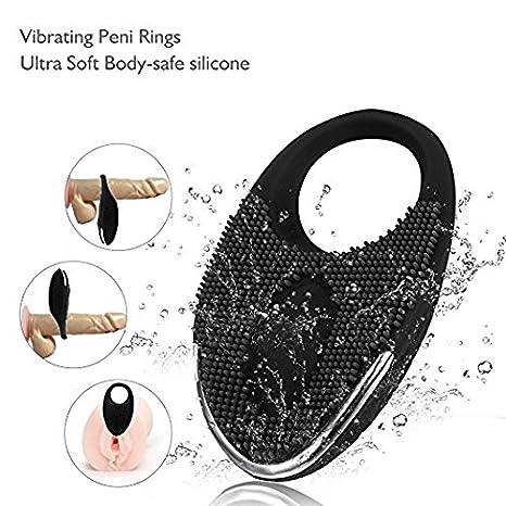 Xoolover Vibrador Silicona Anillo Pene Modos USB Recargable Sumergible Pene Anillo Prolongar