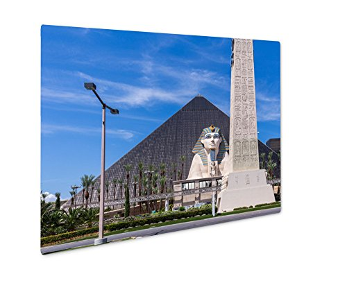 Ashley Giclee View Of Luxor Las Vegas Hotel And Casino Las Vegas, Wall Art Photo Print On Metal Panel, Color, 8x10, Floating Frame, AG6428494