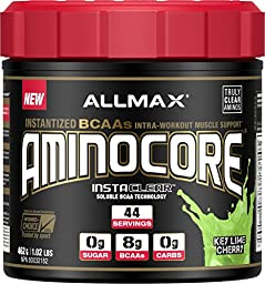 AllMax Nutrition - Aminocore Instantized BCAA Key Lime Cherry - 462 Grams