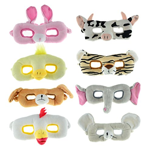 TOKYO-T Cat Mask for Kids Animal Set Elephant Tiger Dog Masquerade Halloween