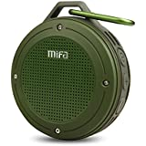 Bluetooth Speakers, MIFA F10 Portable Wireless Soundbox DSP Sound, 10-Hour Playtime, IP56 Dustproof & Waterproof, Built-in Mic, Micro-SD Card Slot, Army Green