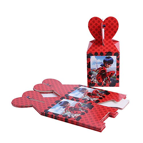 12pcs Miraculous Ladybug Theme Candy Box Kids Birthday