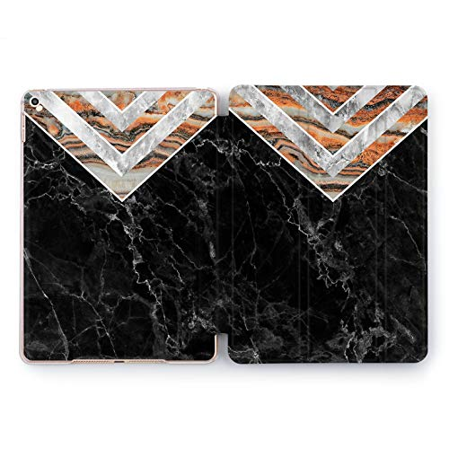 Wonder Wild Black Triangles Apple iPad Pro Case 9.7 11 inch Mini 1 2 3 4 Air 2 10.5 12.9 2018 2017 Design 5th 6th Gen Clear Smart Hard Cover Geometrical Marble Stone Rock Lines Simple Minimalism