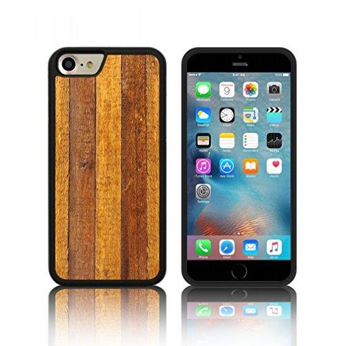 Coque ' bois rustique ' Étui Housse Apple iPHONE 7 en silicone TPU
