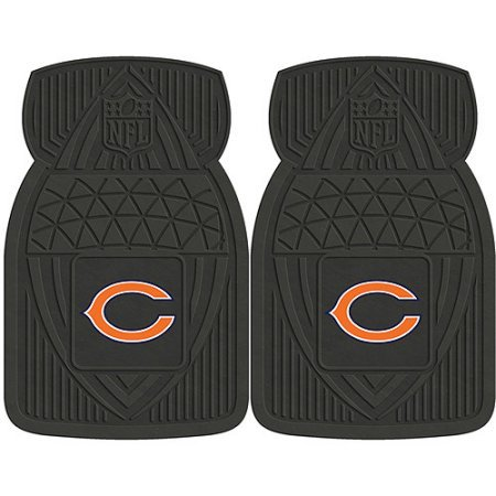 NFL 4-Piece Front #36572616 and Rear #19888884 Heavy-Duty Vinyl Car Mat Set, Chicago Bears by Sports Licensing Solutions LLC