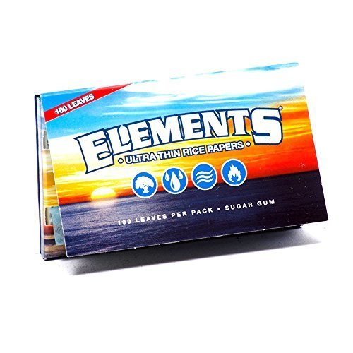 Elements Ultra Thin Rice Rolling Papers 70mm Single Wide Double Pack by Elements ()