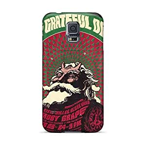 Scratch Resistant Cell-phone Hard Covers For Samsung Galaxy S5 With Customized High Resolution Grateful Dead Image TimeaJoyce