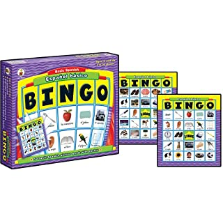 Carson-Dellosa Basic Spanish Español Básico Bingo Learning Board Game | Preschool to First Grade, Ages 4 and Up, Model Number: 8919
