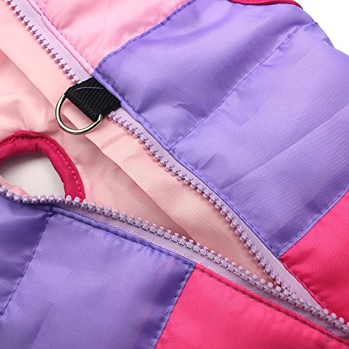 Pet Warm Waterproof Clothes Zekaer Winter and Windproof Down Jacket Rosy 6wCn8q7x