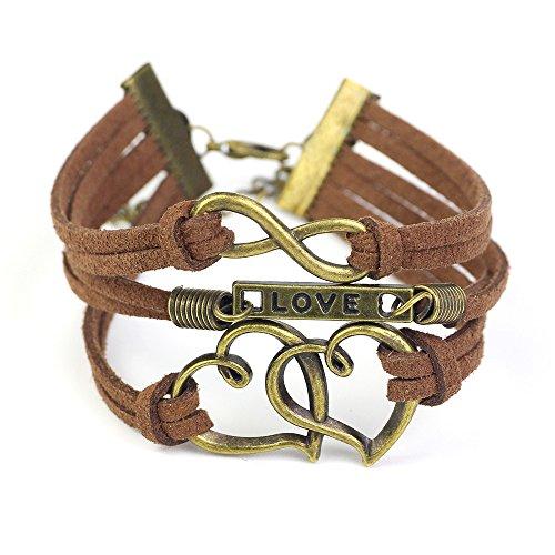 Infinity Silver Karma Wish Tree Best Friend Love Black Rope Leather - Leather Karma Bracelet