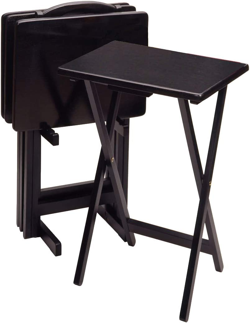 Casual Home Drop Leaf Table with TV Trays