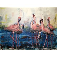 "Original/Print of the Watercolor Painting ""Flamingo Gang"" on Quality Artistic Paper. Wall decor. Office Decor. Gift Idea. ACEO size available."