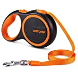 CATOOP Retractable Dog Leash, 360° Tangle-Free, Heavy Duty Pet Dog Leash Anti-Slip Handle, 16 ft Strong Nylon Tape/Ribbon, One-Handed Brake, Pause, Lock