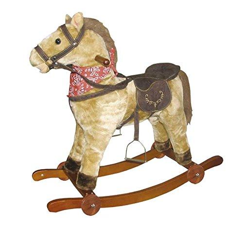 Tachan Caballo BALANCIN con Ruedas GS2021W CPA Toy Group Trading S.L. caballito de madera cowboy