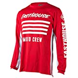 Fasthouse FH Stripes Men's Motocross Motorcycle Jersey Red X-Large