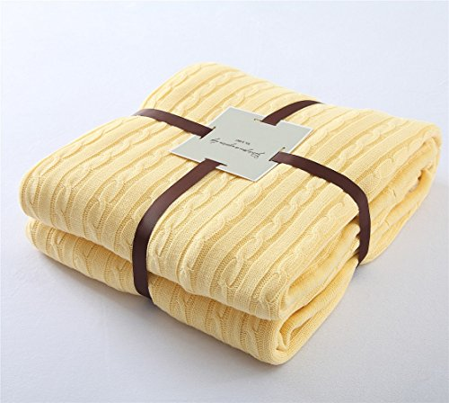 yellow throw quilt - 5