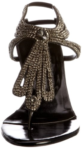 Unze Evening Sandals L18553W - Sandalias para mujer Negro