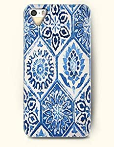 SevenArc Apple iPhone 4 4S Case Moroccan Pattern ( Royal Blue Flowers in Hexagon )