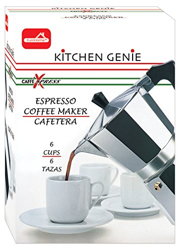 Euro-Home - CaffeXspress 6 Cup Aluminum Espresso Coffee Maker - Barista quality espresso maker. by Euro-Home (Image #1)