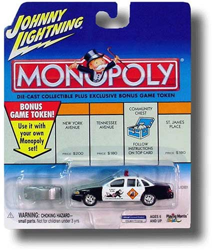 Johnny Lightning 2001 Monopoly Do Not Pass Go 1997 Crown Victoria Car