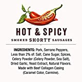 Duke's Hot & Spicy Smoked Shorty Sausages, Keto