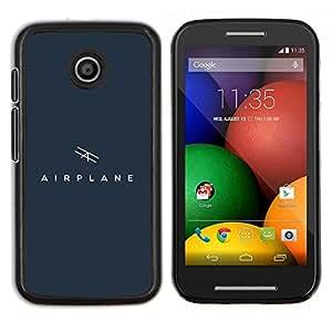 EJOOY---Cubierta de la caja de protección para la piel dura ** Motorola Moto E ** --avión de aire