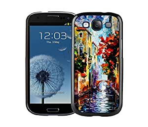 BINGO wholesale Painting Venice Samsung Galaxy S3 i9300 Case Black Cover