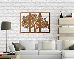 Tree of Life 3D Maple - 3 Panel Wood Wall Art - Beautiful Living Room Decor - Skyline Workshop