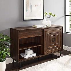 Kitchen Walker Edison Mid-Century Modern Wood Kitchen-Buffet-Sideboard Entryway Serving Storage Cabinet Doors-Dining Room… modern buffet sideboards