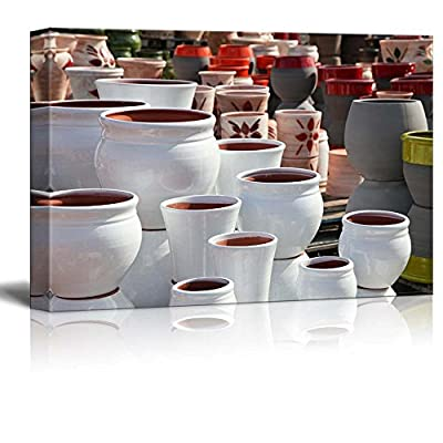 Fascinating Picture, Quality Creation, Assortment of Empty Flowerpots Horticulture