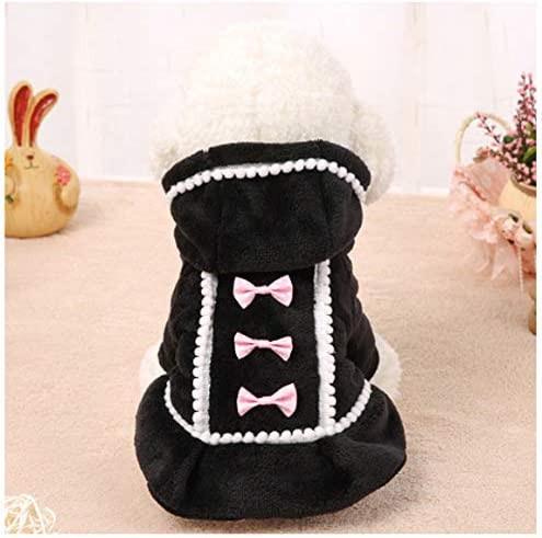 Ropa para Perros Chaqueta de algodón cómoda Negra Trajes de ...