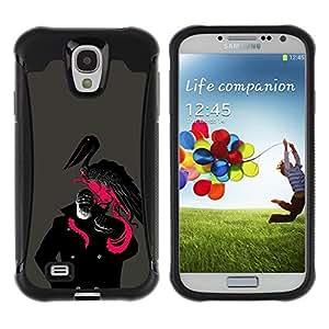 "Pulsar iFace Series Tpu silicona Carcasa Funda Case para Samsung Galaxy S4 IV I9500 , Capitán Pirata Pelícano Negro Rosa Barba Uniforme"""