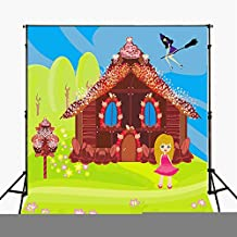 5x7 Cartoon Photography Backdrop Candy House Background for Newborn Photography Birthday Party Backdrops