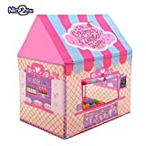 interesting small outdoor kitchen Nice2you Kid Play Tent Candy Castle with Carrying Bag for Girls Boys Playhouse for Children Indoor Outdoor (Pink)