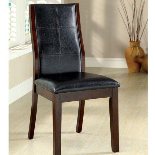 247SHOPATHOME IDF-3339CH-SC Dining-Chairs, Black