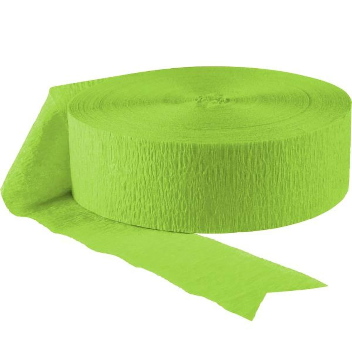 Amscan Jumbo Roll Party Crepe Streamer   Kiwi Green   500'   Party Decor   12 Ct.