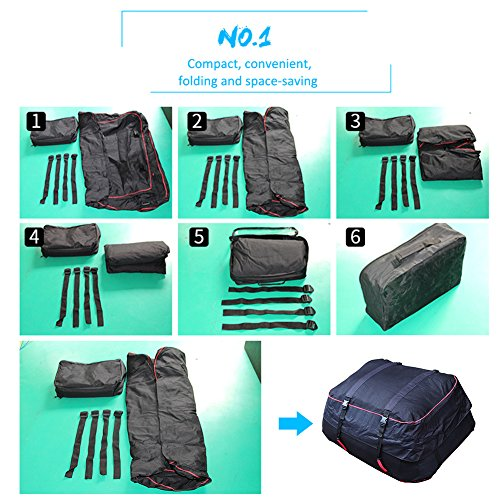 Luerme Outdoor Travel Camping Car 220L Waterproof Rainproof Dustproof Roof Top Cargo Carrier Oxford Cloth Roof Bag by Luerme (Image #2)