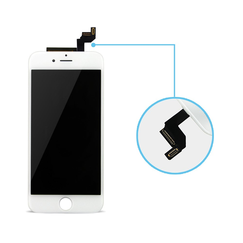 Repair Tool Kit Yodoit for iPhone 6s LCD Display and Digitizer Assembly Glass Touch Screen Replacement with Frame 4.7 inches Black