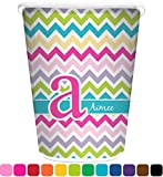 chevron trash can - RNK Shops Colorful Chevron Waste Basket - Single Sided (White) (Personalized)