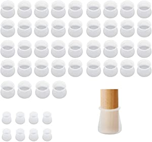 Furniture Chair Legs Caps 48 Pcs, Silicone Furniture Protection Covers, Non-Slip Table Feet Pad Floor Protectors, Fit for Round & Square Furniture Table Feet Cover