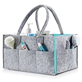 Baby Diaper Caddy | Nursery Diaper Tote Bag | Large Portable Car Travel Organizer | Boy Girl Diaper Storage Bin for Changing Table | Baby Shower Gift Basket | Newborn Registry Must Haves …
