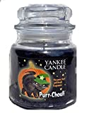 YANKEE CANDLE Purr-Chouli Medium Jar Candle 14.5 oz Patchouli {Similar to Witch's Brew}