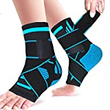 Plantar Fasciitis Compression Socks, 1 Pair Sport Ankle Braces & Achilles Tendon Sleeves with Arch Support &,Foot Care for Eases Swelling,Pain Relief Heel Spurs-Aquamarine
