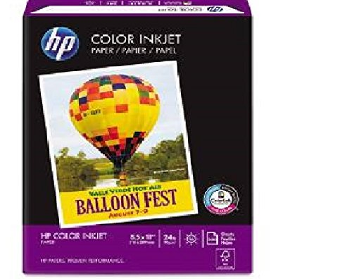 HP - Color Inkjet Paper, 96 Brightness, 24lb, 8-1/2 x 11, Wh